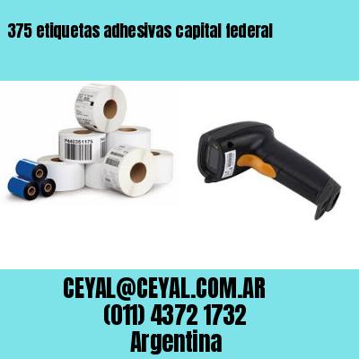 375 etiquetas adhesivas capital federal