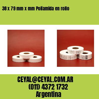 38 x 79 mm x mm Poliamida en rollo