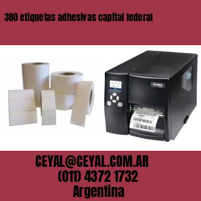 380 etiquetas adhesivas capital federal