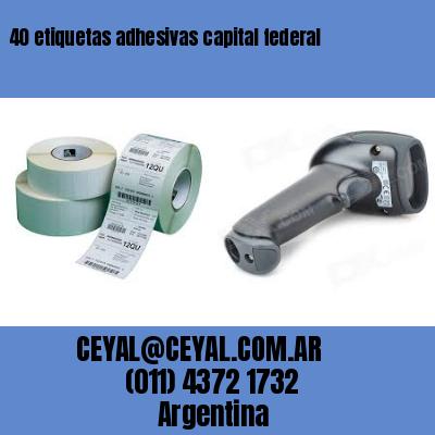 40 etiquetas adhesivas capital federal