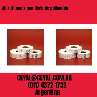 40 x 31 mm x mm Cinta de poliamida