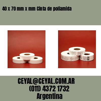 40 x 70 mm x mm Cinta de poliamida