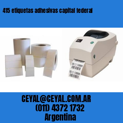 415 etiquetas adhesivas capital federal