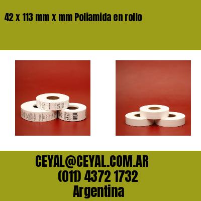 42 x 113 mm x mm Poliamida en rollo