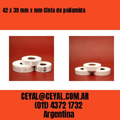 42 x 39 mm x mm Cinta de poliamida