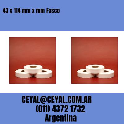 43 x 114 mm x mm Fasco