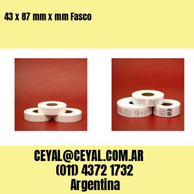 43 x 87 mm x mm Fasco
