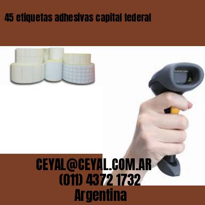 45 etiquetas adhesivas capital federal