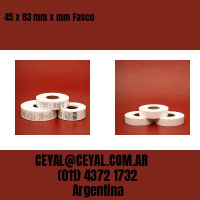 45 x 83 mm x mm Fasco