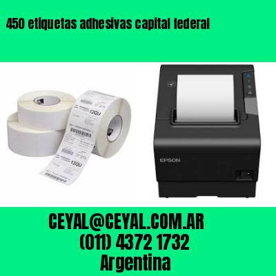450 etiquetas adhesivas capital federal