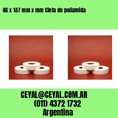 46 x 147 mm x mm Cinta de poliamida
