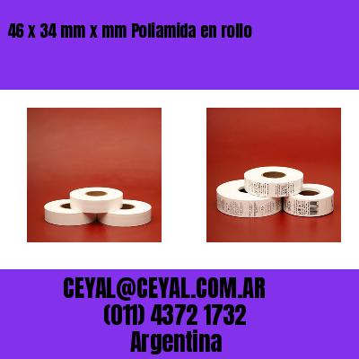 46 x 34 mm x mm Poliamida en rollo