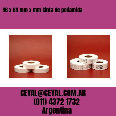 46 x 64 mm x mm Cinta de poliamida