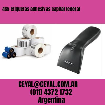 465 etiquetas adhesivas capital federal