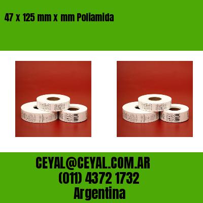 47 x 125 mm x mm Poliamida