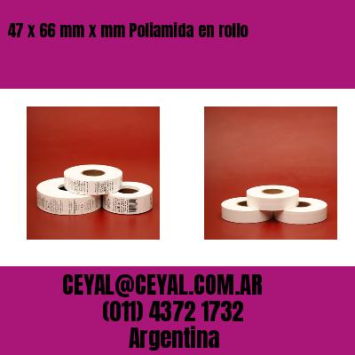47 x 66 mm x mm Poliamida en rollo
