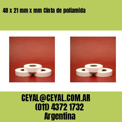 48 x 21 mm x mm Cinta de poliamida
