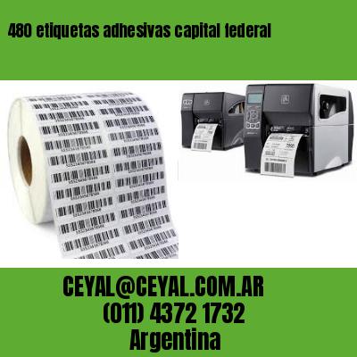 480 etiquetas adhesivas capital federal