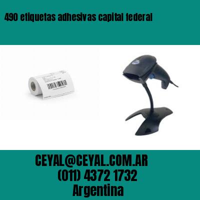 490 etiquetas adhesivas capital federal