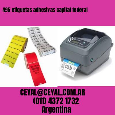 495 etiquetas adhesivas capital federal