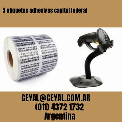 5 etiquetas adhesivas capital federal