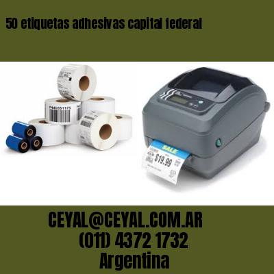 50 etiquetas adhesivas capital federal
