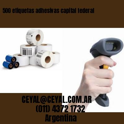 500 etiquetas adhesivas capital federal