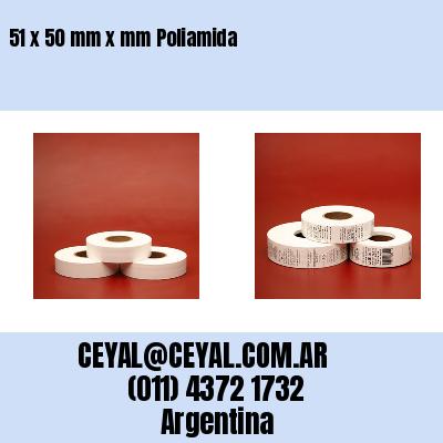 51 x 50 mm x mm Poliamida
