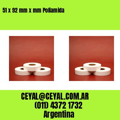 51 x 92 mm x mm Poliamida