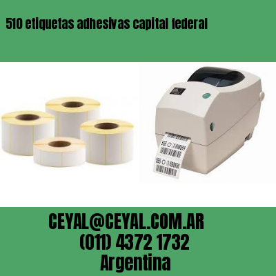 510 etiquetas adhesivas capital federal