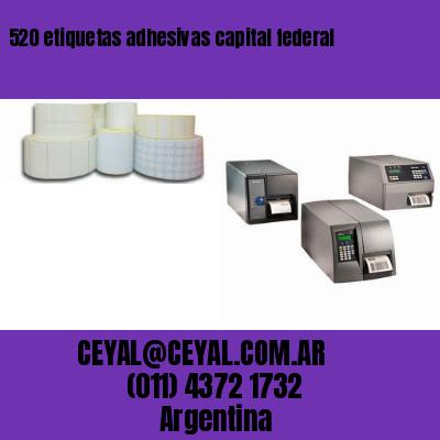 520 etiquetas adhesivas capital federal
