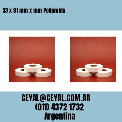53 x 91 mm x mm Poliamida