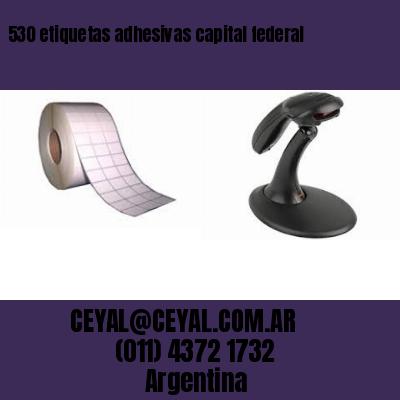 530 etiquetas adhesivas capital federal