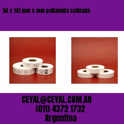 54 x 141 mm x mm poliamida satinada