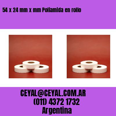 54 x 24 mm x mm Poliamida en rollo