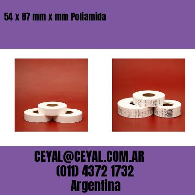 54 x 87 mm x mm Poliamida