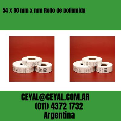54 x 90 mm x mm Rollo de poliamida