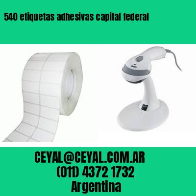 540 etiquetas adhesivas capital federal