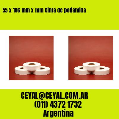 55 x 106 mm x mm Cinta de poliamida