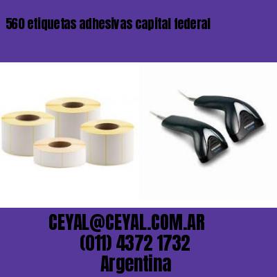 560 etiquetas adhesivas capital federal