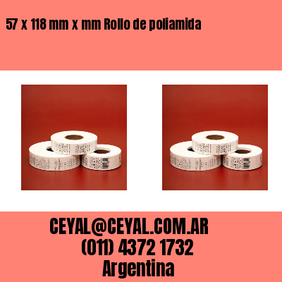 57 x 118 mm x mm Rollo de poliamida