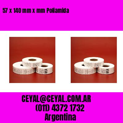 57 x 140 mm x mm Poliamida