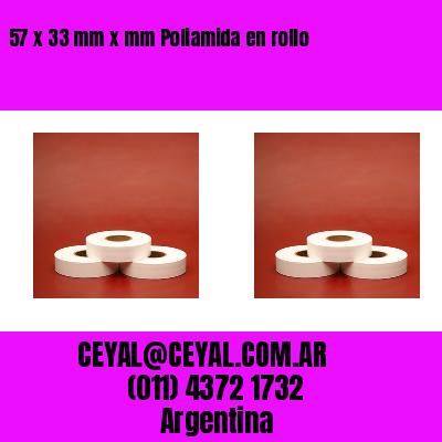57 x 33 mm x mm Poliamida en rollo