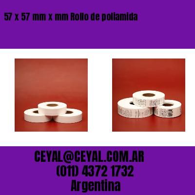 57 x 57 mm x mm Rollo de poliamida