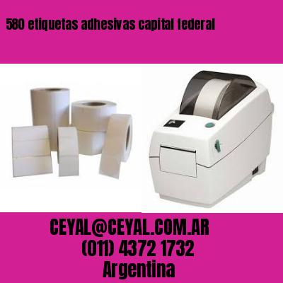580 etiquetas adhesivas capital federal