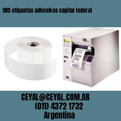 585 etiquetas adhesivas capital federal
