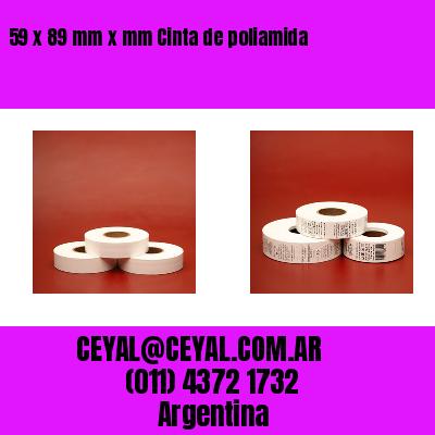59 x 89 mm x mm Cinta de poliamida