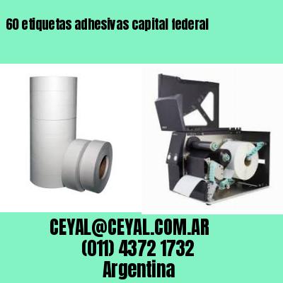 60 etiquetas adhesivas capital federal