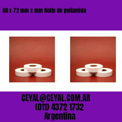 60 x 72 mm x mm Rollo de poliamida