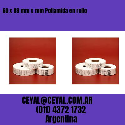 60 x 88 mm x mm Poliamida en rollo